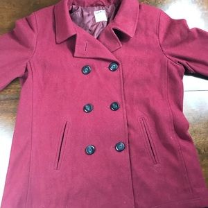 Old Navy XL Red Peacoat